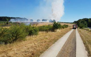 2018-07-06 Stoppelfeld brennt in Pente